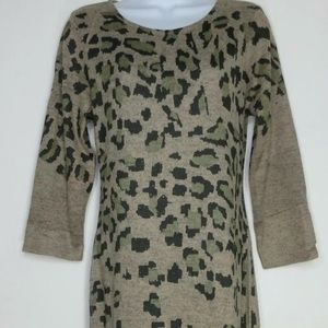 Ginger G Womens Fitted Body Leopard print size L